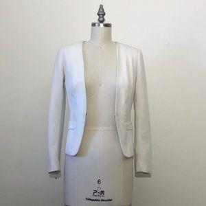 White slim fit suit coat